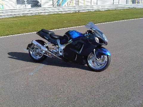 Custom Carbon-Blauw-Kevlar verchroomde hayabusa Custom SportBikes Nederland  (11)