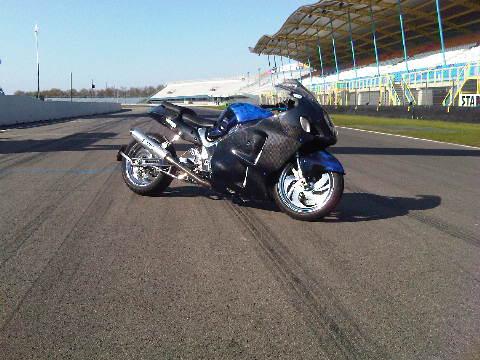 Custom Carbon-Blauw-Kevlar verchroomde hayabusa Custom SportBikes Nederland  (6)