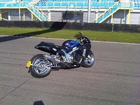 Custom Carbon-Blauw-Kevlar verchroomde hayabusa Custom SportBikes Nederland  (9)