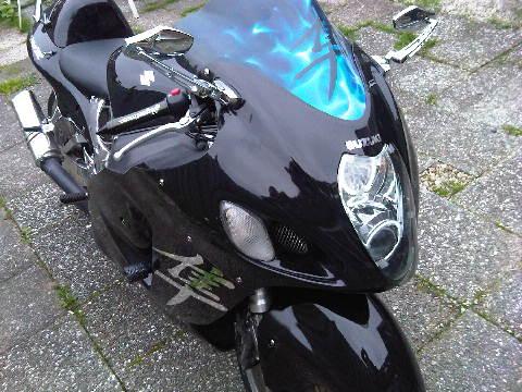Custom SportBikes zwart met chroom Hayabusa Yoshimura  (7)