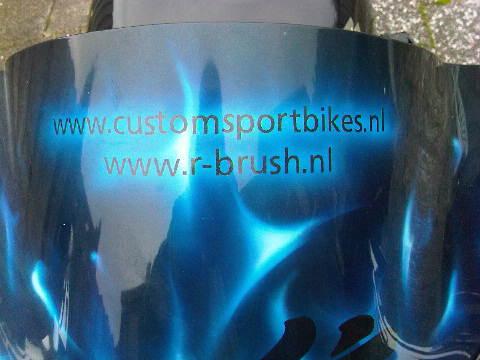 Custom SportBikes zwart met chroom Hayabusa Yoshimura  (9)